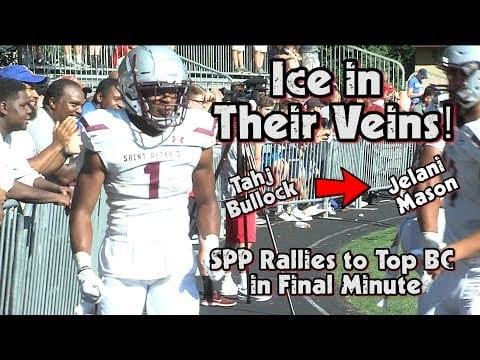 St. Peter's Prep 33 Bergen Catholic 30 | Week 2 Highlights | Tahj Bullock Game-Winning TD Pass!