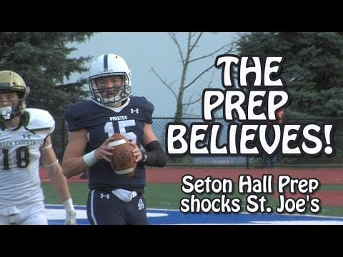 Seton Hall Prep 28 St Joe Montvale 27 | Week 7 Highlights | Prep double pass for the win!