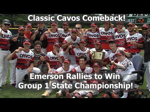 Emerson 8 Glassboro 5 – Baseball Group 1 State Final