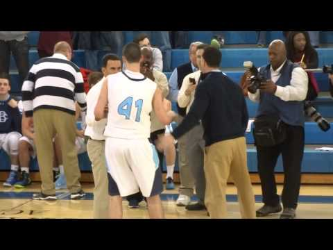 Pat Andree scores his 1,000th point
