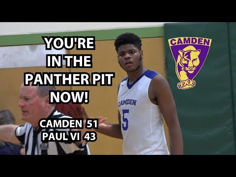 Camden 51 Paul VI 43 Boys Basketball Highlights | TaQuan Woodley 9 points 12 rebounds!