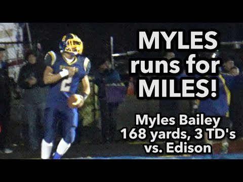 North Brunswick 30 Edison 21| CJ Group 5 Semis | Myles Bailey 168 yds, 3 TDs