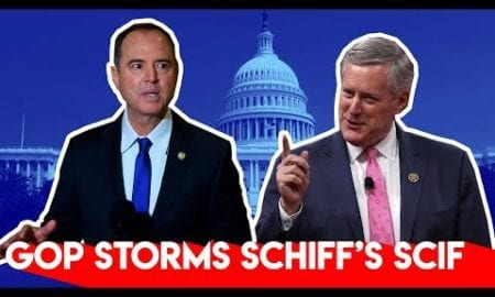House Republicans Storm Schiff's Sketchy SCIF Hearing
