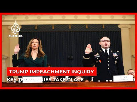 World News: Trump impeachment hearings resume with testimonies