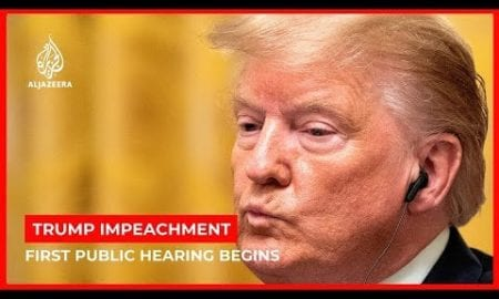 World News: First public hearing of the Trump impeachment inquiry begins