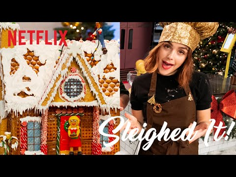 Entertainment: Let It Snow Cast Bakes a Gingerbread House | Sleighed It! | Full Episode | Netflix