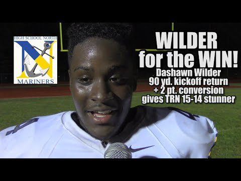 JSZ Report: Toms River North 15 Manalapan 14|  Dashawn Wilder 2pt conversion for win