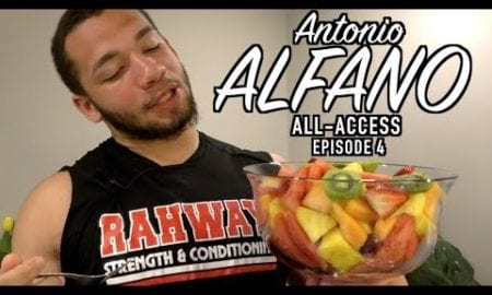 """JSZ Report: Antonio Alfano All-Access   Episode 4   """"Let's Eat!""""   What does it take to feed a 280lb D-End?"""
