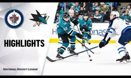 NHL Highlights | Jets @ Sharks 11/27/19