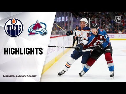 NHL Highlights | Oilers @ Avalanche 11/27/19