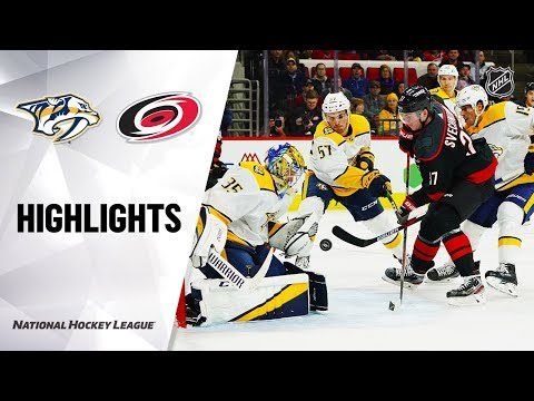 NHL Highlights | Nashville Predators @ Carolina Hurricanes 11/29/19