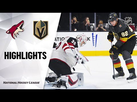 NHL Highlights | Coyotes @ Golden Knights 11/29/19
