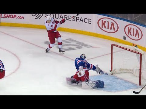 Lundqvist makes insane desperation save to rob Canes