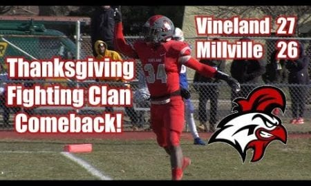 JSZ Report: Vineland 27 Millville 26 | Thanksgiving Football | Tyreem Powell 2 TD Passes