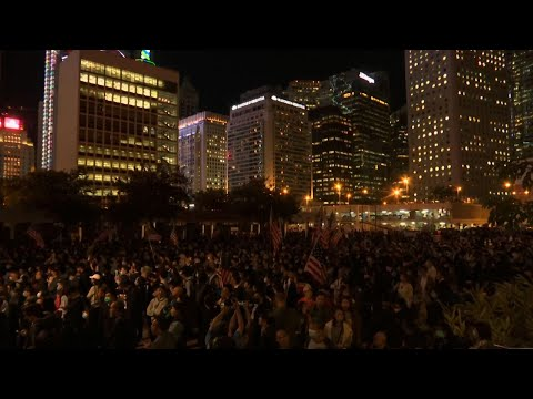 AP: Thousands rally in Hong Kong to thank US