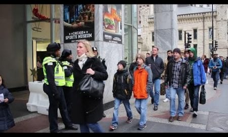 AP: Black Friday shoppers, protesters take Chicago