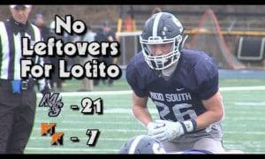 JSZ Report: Middletown South 21 Middletown North 7 | Thanksgiving Week Football | Chris Lotito 2 TD's