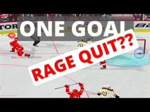 NHL 20 CHAMP #5 – ONE GOAL RAGE QUITTER