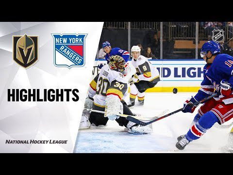 NHL Highlights | Vegas Golden Knights @ New York Rangers 12/02/19