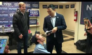 AP: Yang sprays supporters with whipped cream