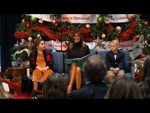 AP: First lady reads story to hospitalized kids