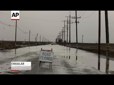 AP: Flooding closes roads, schools in California