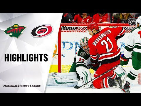 NHL Highlights | Wild @ Hurricanes 12/07/19