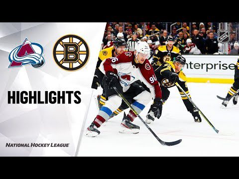NHL Highlights | Avalanche @ Bruins 12/07/19