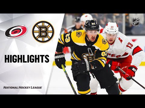 NHL Highlights | Hurricanes @ Bruins 12/3/19