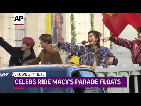 AP: ShowBiz Minute: Thanksgiving, Macy Celebrities , Black Friday