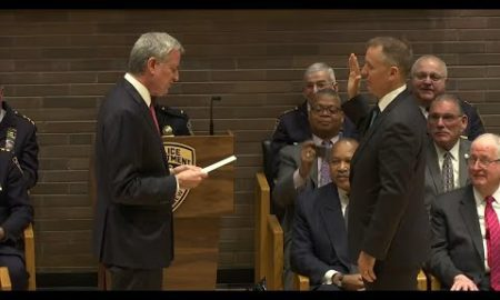 AP: 44th NYPD commissioner Dermot Shea takes oath