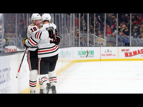Toews beats Rask on a breakaway for OT victory