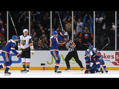 Pulock's snipe gives Isles win over Vegas in OT