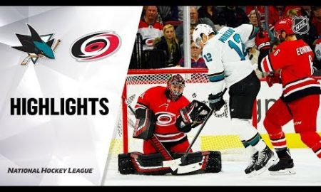 NHL Highlights | Sharks @ Hurricanes 12/5/19
