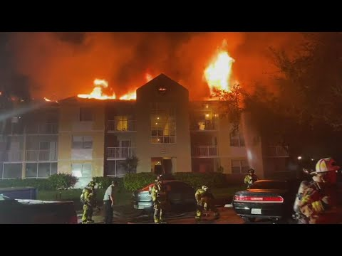 AP: Dozens evacuated in blaze at Florida condo complex