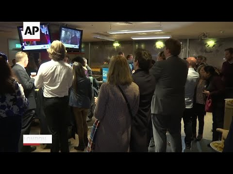 AP: British ruling party supporters cheer exit poll