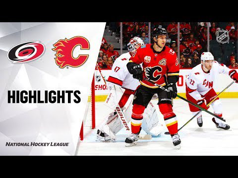 NHL Highlights | Flames @ Hurricanes 12/14/19