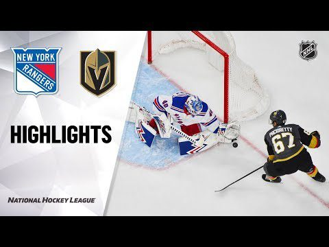 NHL Highlights | Rangers @ Golden Knights 12/08/19