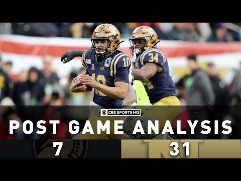 Army vs Navy 2019 Post Game Analysis: Navy QB shattered multiple records | CBS Sports HQ