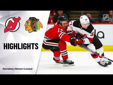 NHL Highlights   Devils @ Blackhawks 12/23/19