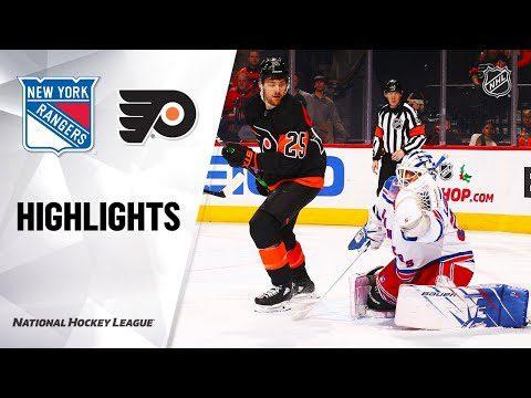 NHL Highlights | Rangers @ Flyers 12/23/19