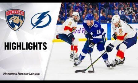 NHL Highlights | Panthers @ Lightning 12/23/19