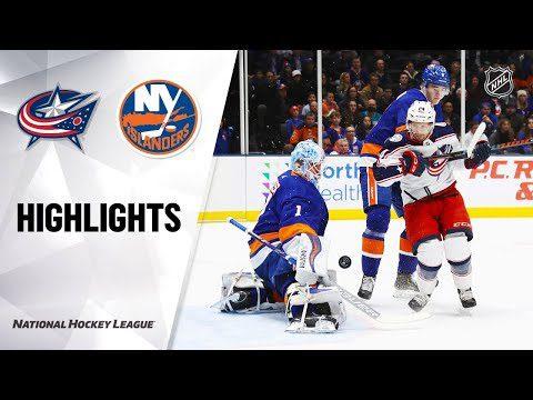 NHL Highlights | Blue Jackets @ Islanders 12/23/19