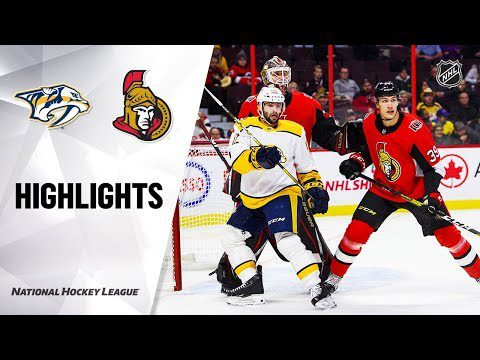 NHL Highlights | Predators @ Senators 12/19/19