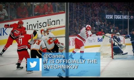 Twitter reacts to Svechnikov's lacrosse-style goals
