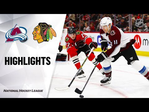 NHL Highlights | Avalanche @ Blackhawks 12/18/19