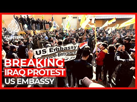 World News: US embassy protesters in Iraq 'told to withdraw'