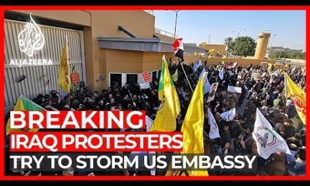 World News: Hundreds of Iraqi mourners try to storm US Embassy in Baghdad