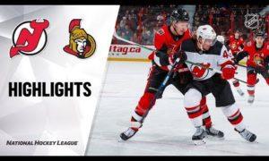 NHL Highlights | Devils @ Senators 12/29/19