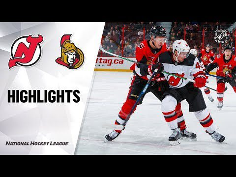 NHL Highlights | Devils @ Senators 12/29/19